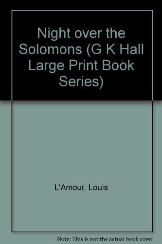 9780816143436: Night over the Solomons (G K Hall Large Print Book Series)