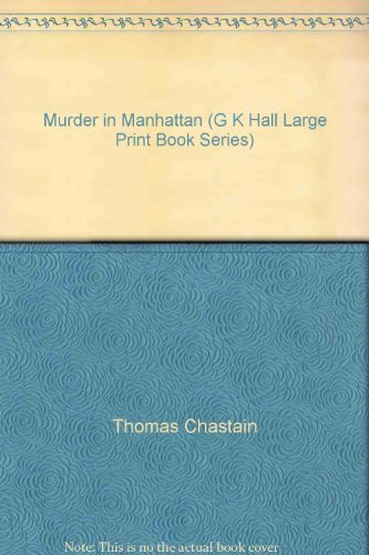 9780816143450: Murder in Manhattan (G.k. hall large print book series)