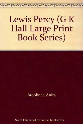 9780816150748: Lewis Percy (G K Hall Large Print Book Series)