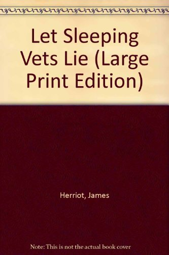 9780816152179: Let Sleeping Vets Lie (G K Hall Large Print Book Series)