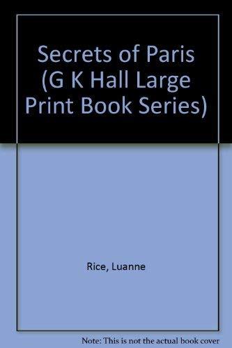 9780816153299: Secrets of Paris (G K Hall Large Print Book Series)