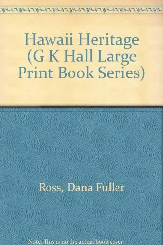 9780816154210: Hawaii Heritage (G K Hall Large Print Book Series)