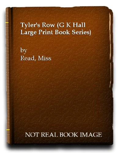 9780816155095: Tyler's Row (G K Hall Large Print Book Series)