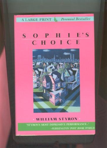 9780816156504: Sophie's Choice (G K Hall Large Print Book Series)