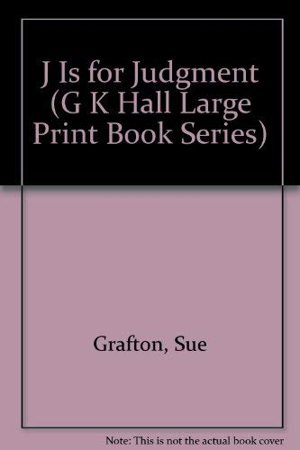 9780816157501: J Is for Judgment (G K Hall Large Print Book Series)