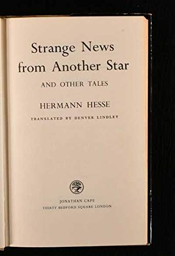 9780816161546: Strange News from Another Star and Other Tales