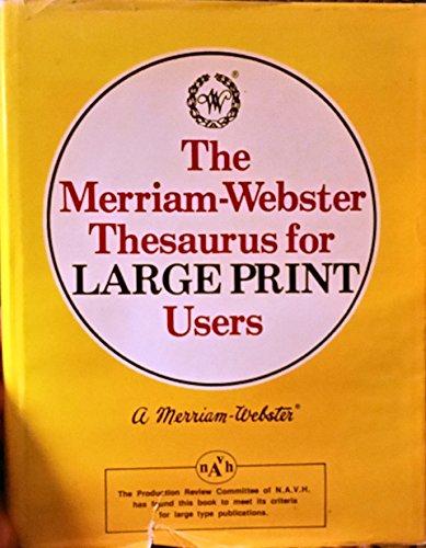 9780816166176: Merriam-Webster Thesaurus