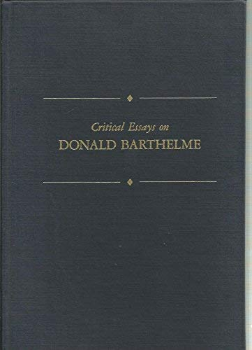 9780816173051: Critical Essays on Donald Barthelme (Critical Essays on American Literature)