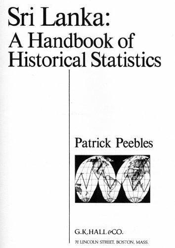 9780816181605: Sri Lanka: A Handbook of Historical Statistics (Reference Publication in International Historical Statistics)