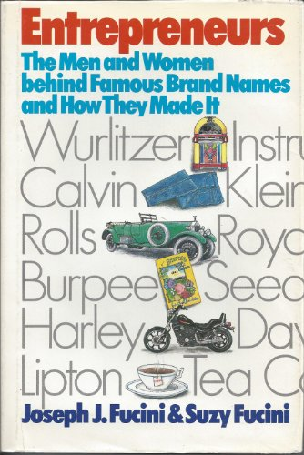 9780816187089: Entrepreneurs: The Men and Women Behind Famous Brand Names and How They Made It