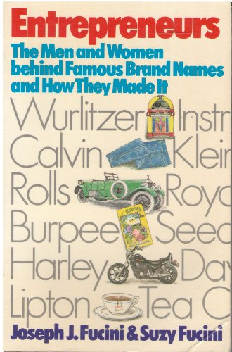 9780816187362: Entrepreneurs: The Men and Women Behind Famous Brand Names and How They Made It