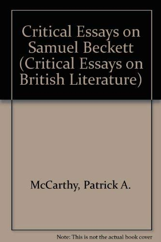 9780816187607: Critical Essays on Samuel Beckett (Critical Essays on British Literature)