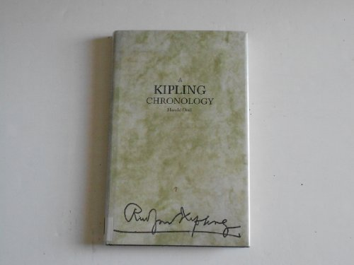 9780816190904: A Kipling Chronology (Chronologies-Reference)