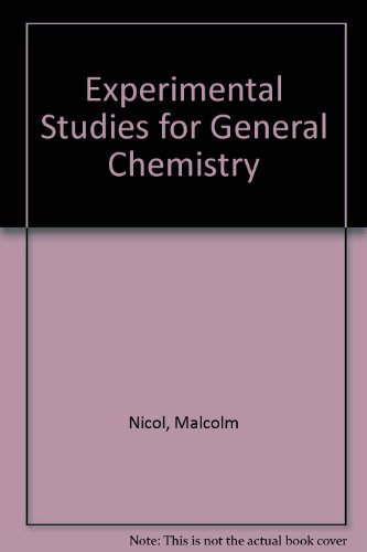 9780816264414: Experimental Studies for General Chemistry