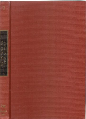 9780816277650: Collective choice and social welfare (Mathematical economics texts)