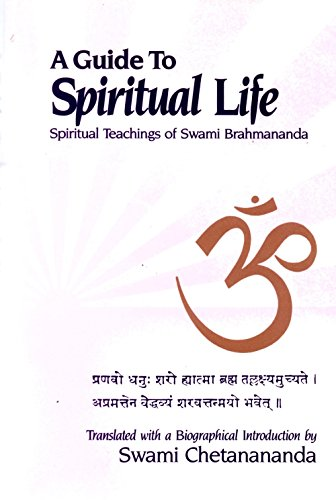 9780816356607: A Guide to Spiritual Life Spiritual Teachings of Swami Brahmananda