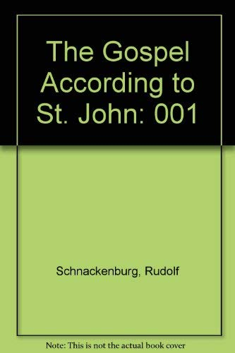 9780816412105: The Gospel According to St. John, Volume 1