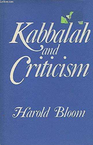 9780816492640: Kabbalah and criticism (A Continuum book)