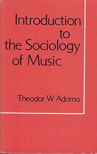 9780816492664: Introduction to the sociology of music (A Continuum book)