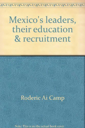 9780816507016: Mexico's Leaders: Their Education and Recruitment