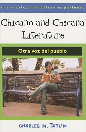 9780816524273: Chicano and Chicana Literature: Otra voz del pueblo (The Mexican American Experience)