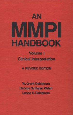 An MMPI Handbook: Volume 1: Clinical Interpretation (Revised): Dahlstrom, William Grant