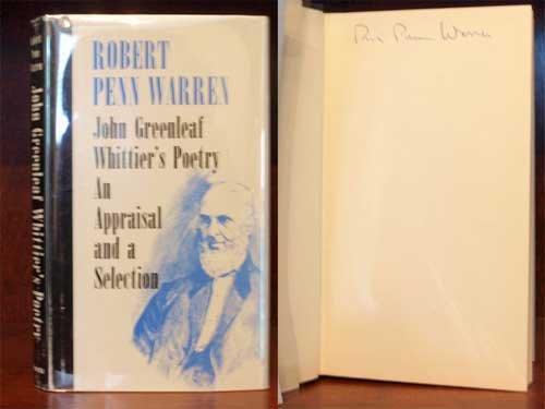 John Greenleaf Whittier's Poetry: An Appraisal and: Whittier, John Greenleaf