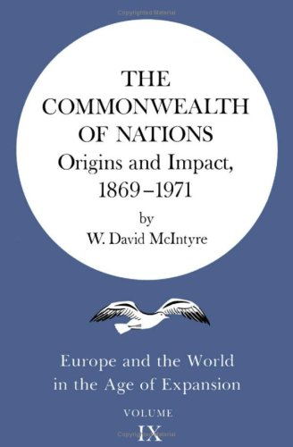 9780816608553: The Commonwealth of Nations: Origins and Impact, 1869-1971