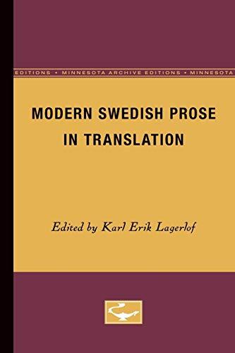 Modern Swedish Prose in Translation: Lagerlof, Karl Erik