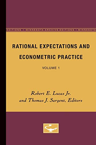 9780816609178: Rational Expectations and Econometric Practice - Volume 1