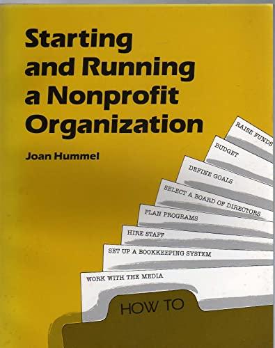 9780816609895: Starting and Running a Nonprofit Organization