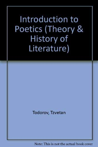 9780816610082: Introduction to Poetics (Theory & History of Literature)