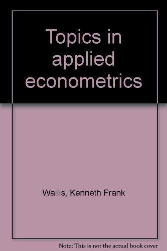 9780816610143: Topics in applied econometrics