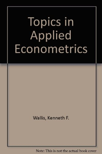 9780816610174: Topics in Applied Econometrics