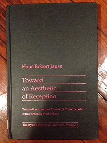 9780816610341: Toward an Aesthetic of Reception