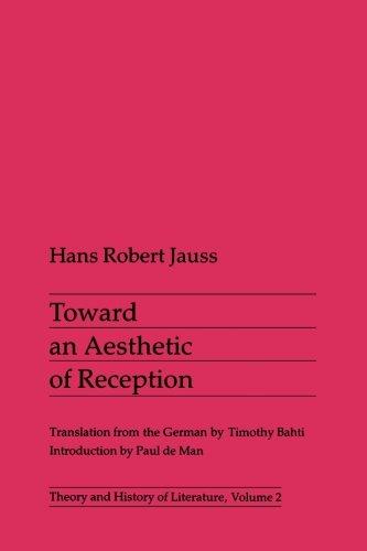 9780816610372: Toward an Aesthetic of Reception