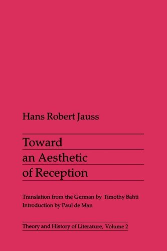 9780816610372: Toward an Aesthetic of Reception (Theory and History of Literature)