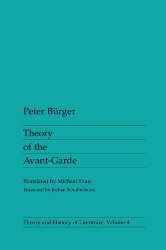 9780816610686: Theory of the Avant-garde (Theory & History of Literature)