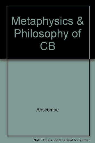 9780816610808: Metaphysics & Philosophy of CB