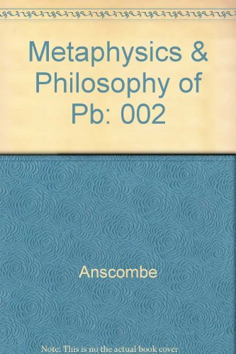 9780816610815: Metaphysics & Philosophy of Pb: 002