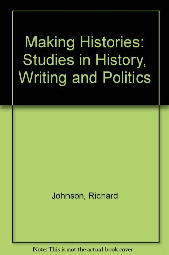9780816611652: Making Histories: Studies in History Writing and Politics