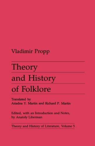 9780816611829: Theory and History of Folklore (Theory and History of Literature)