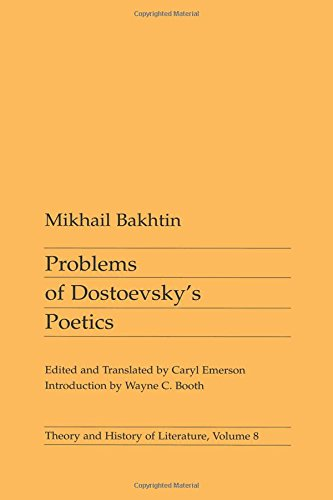 9780816612284: Problems of Dostoevsky's Poetics (Theory and History of Literature)