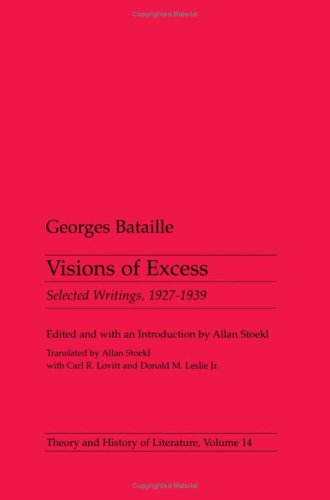 9780816612802: Visions of Excess: Selected Writings, 1927-1939