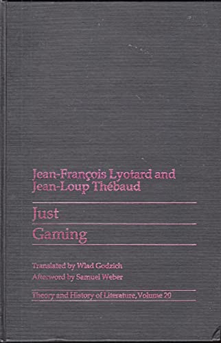 9780816612819: Just Gaming (Theory & History of Literature) (English and French Edition)