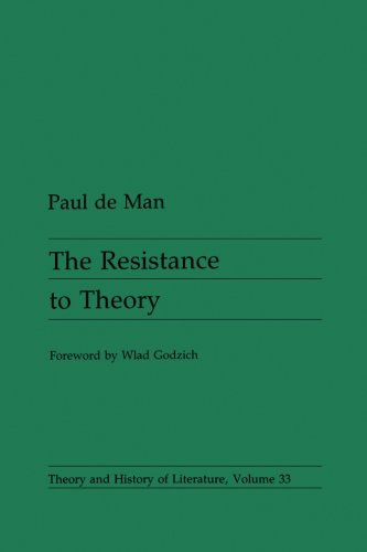 9780816612949: Resistance To Theory (Theory and History of Literature)