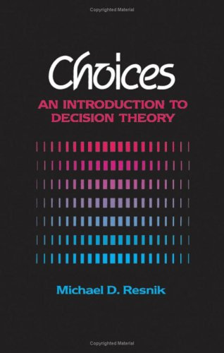 9780816614394: Choices: Introduction to Decision Theory
