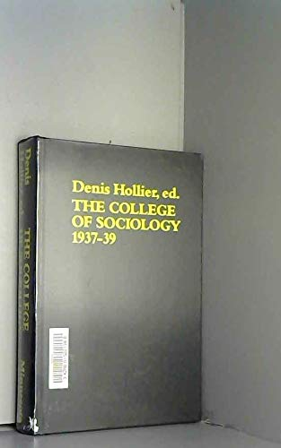 9780816615919: The College of Sociology (Theory and History of Literature) (English and French Edition)