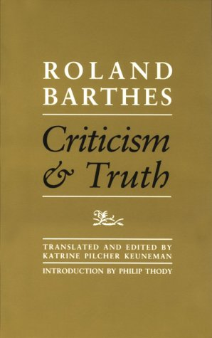 9780816616091: Criticism And Truth