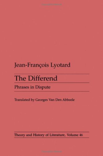 9780816616107: The Differend: Phrases in Dispute (Theory and History of Literature)
